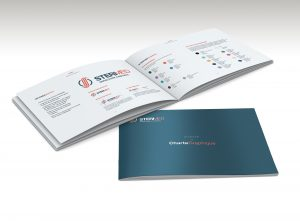 blank catalog  mock up in A4 horizontal format on white backgrou