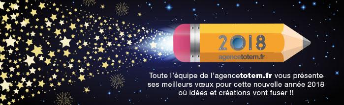 Bannière Agence Totem Vœux 2018