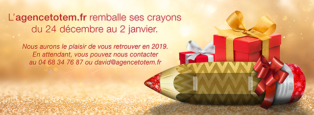 Bannière Agence Totem Noël 2018